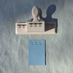 Martha Stewart scalloped embossed paper edge punch